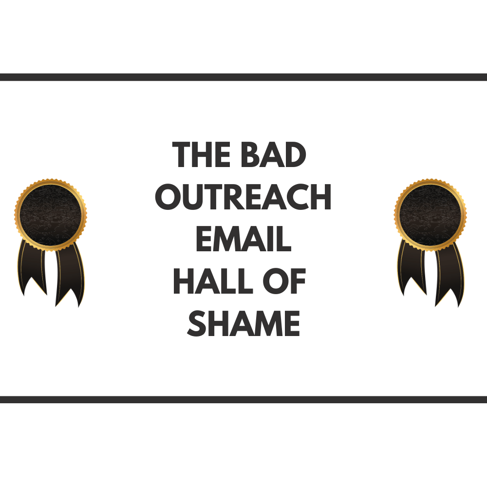 Bad Outreach Email Hall of Fame FI